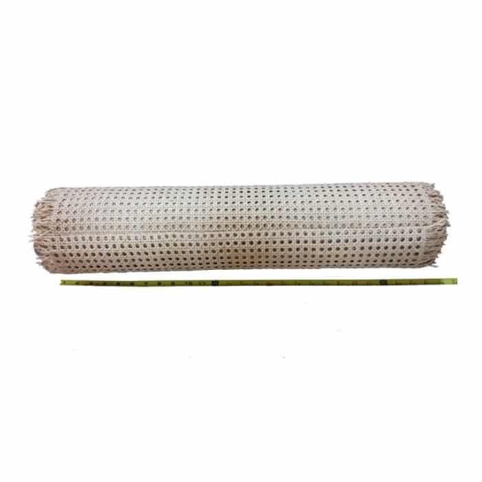 Roll 1/2'' Fine Open Cane Webbing 24'' Wide, 10 Foot Long Roll