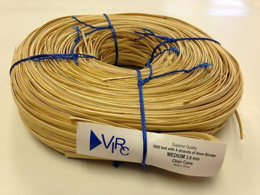 Chair Cane Medium 3mm 1000 ft coil with 4 strands of 4mm Binder Cane