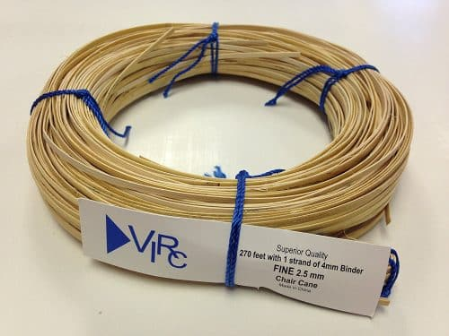 Chair Cane Fine 2.5mm 270 ft coil with 1 strand 4mm Binder Cane