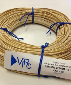 Chair Cane Narrow Medium 2.75mm 270 ft coil with 1 strand of 4mm Binder Cane