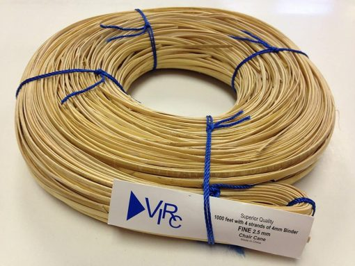 Chair Cane Fine 2.5mm 1000 ft coil with 4 strands of 4mm Binder Cane