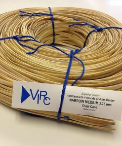 Chair Cane Narrow Medium 2.75mm 1000 ft coil with 4 strands of 4mm Binder Cane