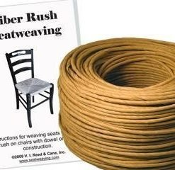 Fiber Rush KIT 5/32 Kraft Brown with instruction booklet