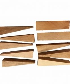Oak Hardwood - Pressed Cane Caning Wedges / Rush Seat Weaving 10 Pack
