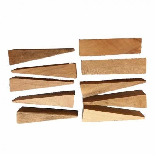 Oak Hardwood - Pressed Cane Caning Wedges / Rush Seat Weaving 10 Pack