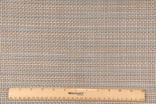 Phifertex Wicker Weave Cane Weave Woven Vinyl Mesh Sling Chair Outdoor Fabric in Pacific