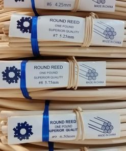 1 Pound Coil of Round Reed, Natural Color, Any Size, #2,3,4,5,6,7,8,9,10 (#2)