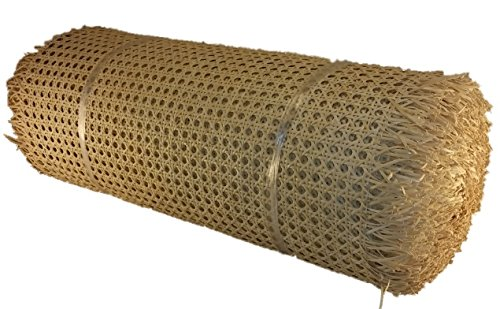 Roll 1/2'' Fine Open Cane Webbing 24'' Wide, 10 Foot Long Roll